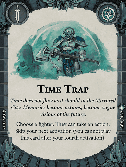 Ploy Time Trap in Warhammer Underworlds: Shadespire